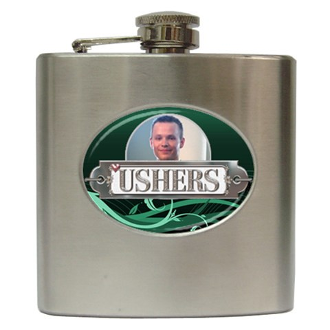 Ushers Hip Flask By Lil    Hip Flask (6 Oz)   Kqw151jbgiu1   Www Artscow Com Front