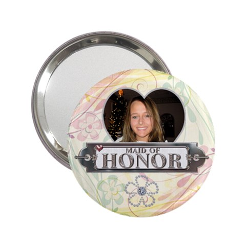Maid Of Honor Handbag Mirror By Lil    2 25  Handbag Mirror   03ffa4vw03z1   Www Artscow Com Front