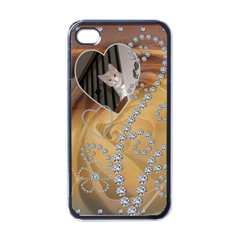 Diamond Rose Apple Iphone 4 Case By Lil    Apple Iphone 4 Case (black)   Jnzt8n89caco   Www Artscow Com Front