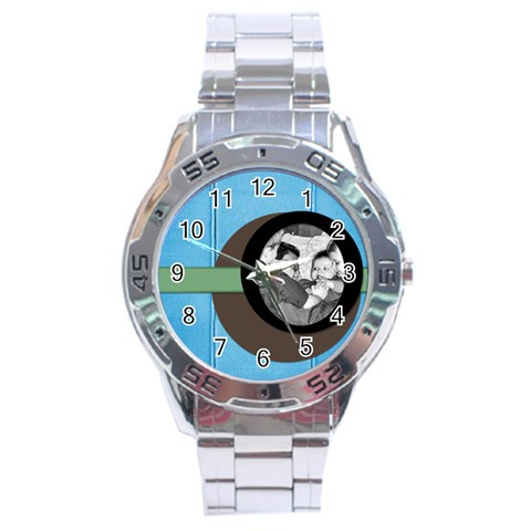 By Brookieadkins Yahoo Com   Stainless Steel Analogue Watch   Dl0sog02gqon   Www Artscow Com Front