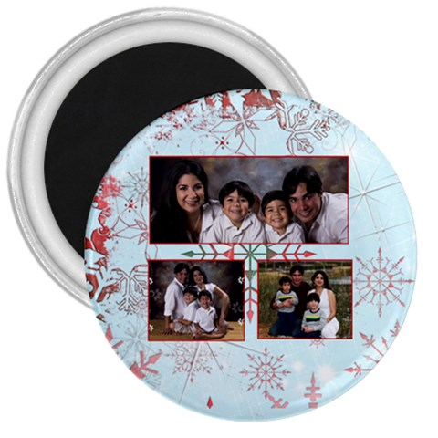 Red Snowflakes Magnet 2 By Ivelyn   3  Magnet   9hw4rl6dsxmd   Www Artscow Com Front