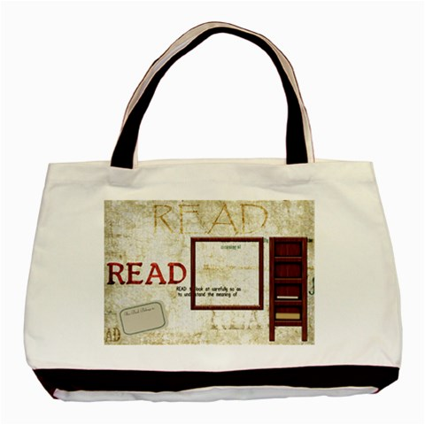 A Good Read Tote By Lisa Minor   Basic Tote Bag   I0h6byxxfku4   Www Artscow Com Front