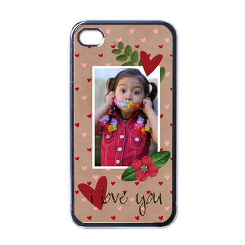 Iphone 4 Case  I Love You! By Jennyl   Apple Iphone 4 Case (black)   C7a0oi1l5gud   Www Artscow Com Front