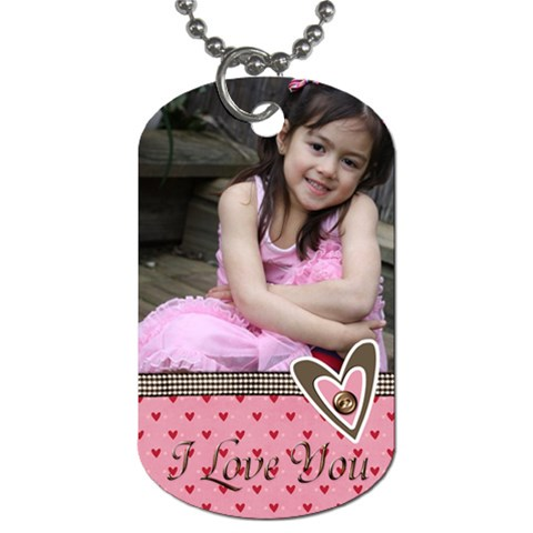 Dog Tag   I Love You By Jennyl   Dog Tag (one Side)   Rd9xw8uw7d0i   Www Artscow Com Front