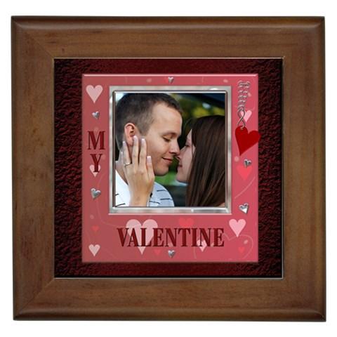 My Valentine Framed Tile By Lil    Framed Tile   5x4r5ce34w5w   Www Artscow Com Front