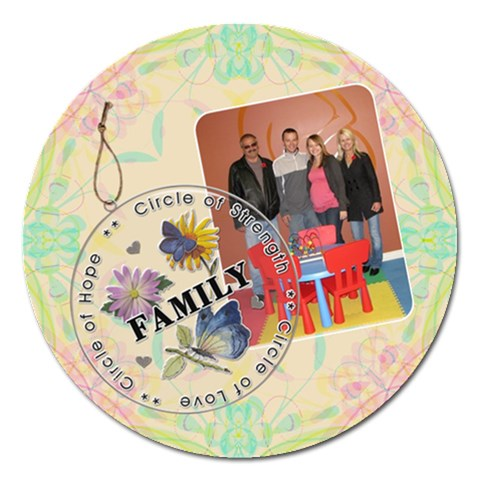 Family Love 5  Round Magnet By Lil    Magnet 5  (round)   Ai2cblzuaqmj   Www Artscow Com Front