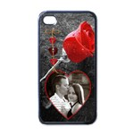 Rose Apple iPhone 4 Case - Apple iPhone 4 Case (Black)