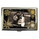 black money case with gold snowflakes - Cigarette Money Case