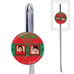 red & green xmas book mark