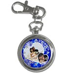 watch with photo hearts & snowflakes - Key Chain Watch