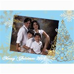 gold xmas tree xmas greeting cards - 5  x 7  Photo Cards
