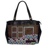 Bloop Bleep Oversized 1 side office bag 1 - Oversize Office Handbag (One Side)