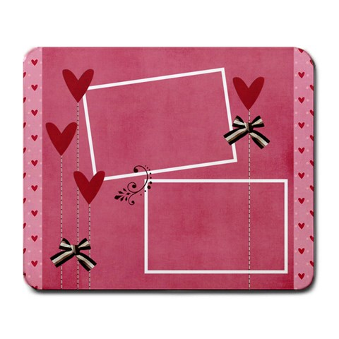 Large Mousepad  Love Hearts By Jennyl   Large Mousepad   Sg4oj7fluubr   Www Artscow Com Front