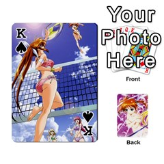 King Nanoha Dek By Linysia   Playing Cards 54 Designs   Ydqqdoykqi6z   Www Artscow Com Front - SpadeK