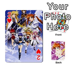 Nanoha Dek By Linysia   Playing Cards 54 Designs   Ydqqdoykqi6z   Www Artscow Com Front - Heart2