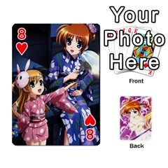 Nanoha Dek By Linysia   Playing Cards 54 Designs   Ydqqdoykqi6z   Www Artscow Com Front - Heart8