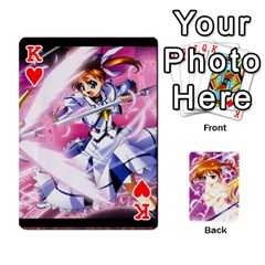 King Nanoha Dek By Linysia   Playing Cards 54 Designs   Ydqqdoykqi6z   Www Artscow Com Front - HeartK