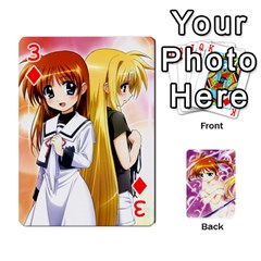 Nanoha Dek By Linysia   Playing Cards 54 Designs   Ydqqdoykqi6z   Www Artscow Com Front - Diamond3