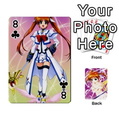 Nanoha Dek By Linysia   Playing Cards 54 Designs   Ydqqdoykqi6z   Www Artscow Com Front - Club8