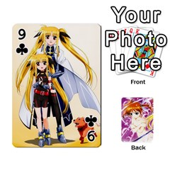 Nanoha Dek By Linysia   Playing Cards 54 Designs   Ydqqdoykqi6z   Www Artscow Com Front - Club9