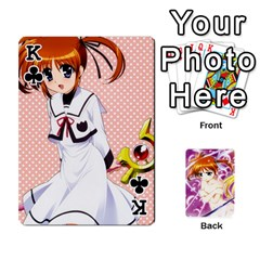 King Nanoha Dek By Linysia   Playing Cards 54 Designs   Ydqqdoykqi6z   Www Artscow Com Front - ClubK