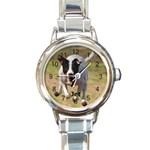 Jet Watch - Round Italian Charm Watch