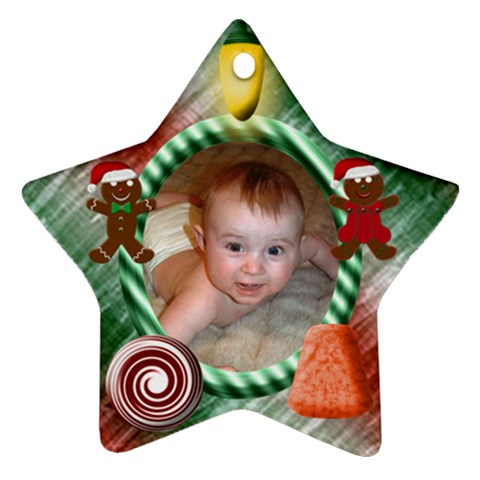 Candy Christmas Star By Chere s Creations   Ornament (star)   Aci349o5nb76   Www Artscow Com Front