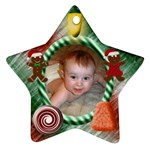 Candy Christmas Star - Ornament (Star)