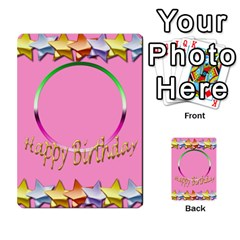 Happy Birthday Card Invitation By Daniela   Multi Purpose Cards (rectangle)   Jl91c16ud2tr   Www Artscow Com Front 8