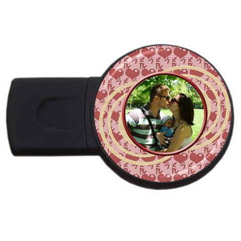 Love   Usb 4 Gb By Daniela   Usb Flash Drive Round (4 Gb)   Iceannhy3hzu   Www Artscow Com Front