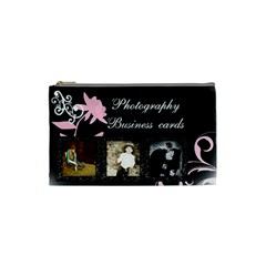 Photography Business Cards Bag By Danielle Christiansen   Cosmetic Bag (small)   Ja22j6wkoy6x   Www Artscow Com Front