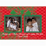 Red & Green Xmas Cards - 5  x 7  Photo Cards