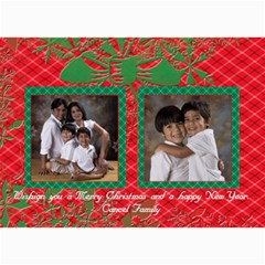 Red & Green Xmas Cards By Ivelyn   5  X 7  Photo Cards   V3aa7qpnvw2m   Www Artscow Com 7 x5  Photo Card - 3