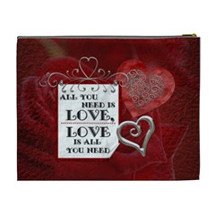 My Valentine Xl Cosmetic Bag By Lil    Cosmetic Bag (xl)   Pfni86vlmu08   Www Artscow Com Back