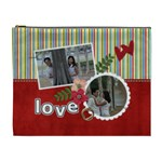 XL Cosmetic Case- Stripes-Love - Cosmetic Bag (XL)