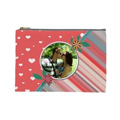 Love U Large Cosmetic Bag By Daniela   Cosmetic Bag (large)   Nefo9tg4mawj   Www Artscow Com Front