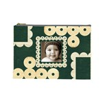 Cheeky Monkey Damask Cosmetic Bag - Cosmetic Bag (Large)