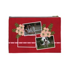 Large  Cosmetic Bag Love1 By Jennyl   Cosmetic Bag (large)   0qj17qiaw3bp   Www Artscow Com Back
