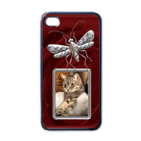 Chrome & Diamond Bug Apple Iphone 4 Case By Lil    Apple Iphone 4 Case (black)   Khen9ivpacea   Www Artscow Com Front