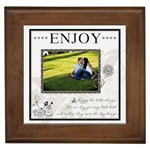 Enjoy  Framed Tile