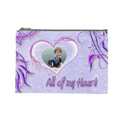 All Of My Heart Purples Large Cosmetic Bag By Catvinnat   Cosmetic Bag (large)   Hbunvu2v27uu   Www Artscow Com Front
