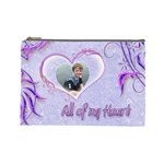 All of my Heart Purples Large Cosmetic Bag - Cosmetic Bag (Large)