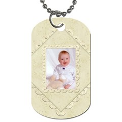 Damask Marble Double Sided Dogtag By Catvinnat   Dog Tag (two Sides)   0rruy10lmetj   Www Artscow Com Front