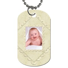 Damask Marble Double Sided Dogtag By Catvinnat   Dog Tag (two Sides)   0rruy10lmetj   Www Artscow Com Back