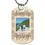 Mocha Damask Family Love double sided dogtag - Dog Tag (Two Sides)