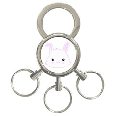 Kawaii Bunny Rabbit in Lilac 3-Ring Key Chain by KawaiiCreative