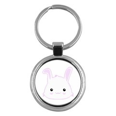 Kawaii Bunny Rabbit in Lilac Key Chain (Round) by KawaiiCreative
