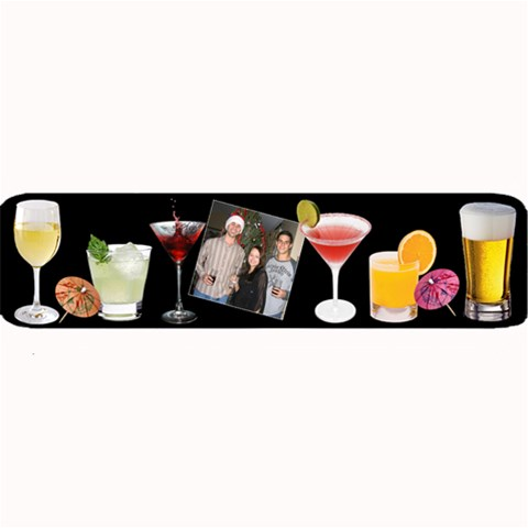 Drinks And Drinks Large Bar Mat By Lil 32 x8.5  Bar Mat