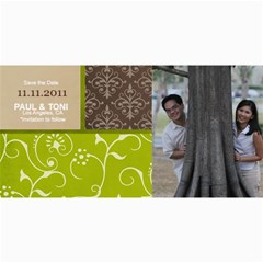 Save The Date Photo Cards  Brown & Green By Jennyl   4  X 8  Photo Cards   N12sjkll6hx5   Www Artscow Com 8 x4 Photo Card - 3