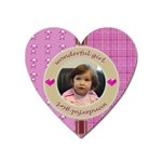 Wonderful girl magnet - Magnet (Heart)